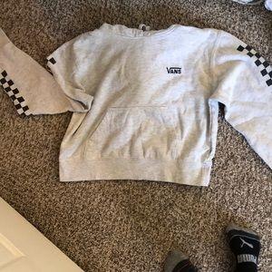 vans cropped hoodie!